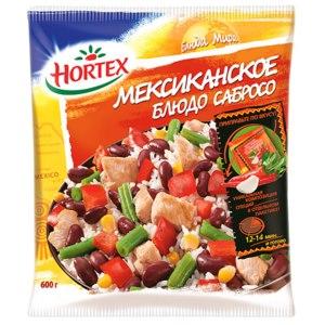 Овощи замороженные Hortex Блюда мира Мексиканское блюдо Сабросо фото