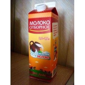 """Молоко ООО """"ЛебедяньМолоко"""" отборное, 3,4 - 4,5 % фото"""