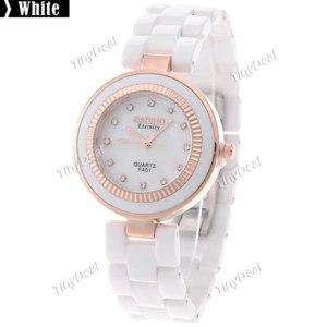 Часы Tinydeal Наручные BARIHO F401 Quartz Round Dial Watch Wrist with Ceramic Watchband for Women Lady WWM-174173 фото