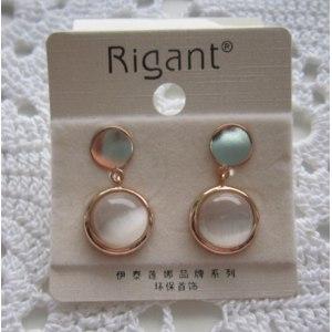 Серьги Aliexpress Italina wholesale Fashion crystal eye fashion vintage stud earring 18k rose gold plated jewelry фото