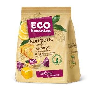 Конфеты Eco botanica вкус имбиря и лимона фото
