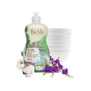 Cредство жидкое моющее BioMio BIO-CARE Экологичное средство для мытья посуды, овощей и фруктов с эфирным маслом вербены фото