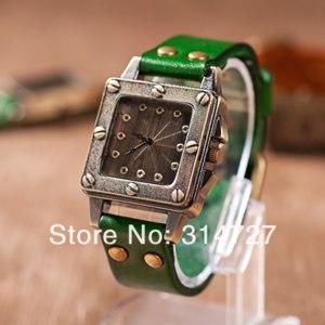Наручные часы Aliexpress Han edition agitation restoring ancient ways big screw watch dial square фото