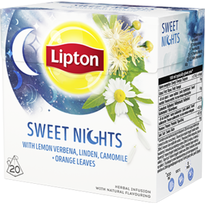 Чай в пирамидках Lipton Sweet nights with lemon verbena, linden, camomile and orange leaves фото