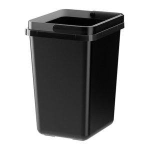 Икеа ВАРЬЕРА Контейнер д/сортировки мусора, черный фото