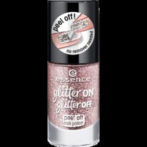 Лак для ногтей Essence glitter on glitter off peel off nail polish фото