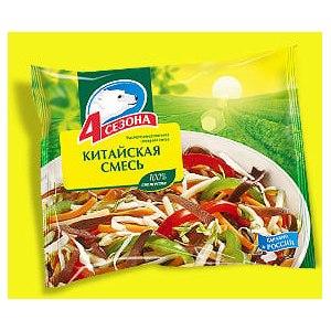 Овощные смеси 4 сезона Китайская смесь из быстрозамороженных овощей 400 гр. фото