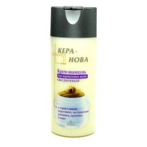 Крем-шампунь Кера-Нова для нормальных волос ежедневный, с серой глиной, кератином, экстрактами ромашки, крапивы и аира фото