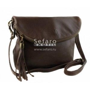 Сумка SEFARO Exotic арт. TB-721-2 Marrone Scuro Premium Savage фото