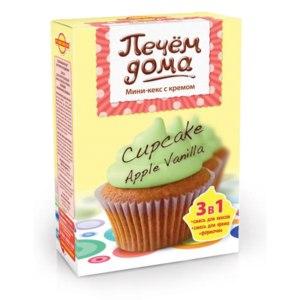 Смесь для выпечки Печем дома capekake apple vanilla мини-кекс с кремом фото