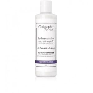 Антиоксидантное очищающее молочко Christophe Robin с 4 маслами и черникой для осветленных или сухих волос фото