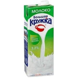 Молоко Большая кружка ультрапастеризованное 3,2% 1,5л фото