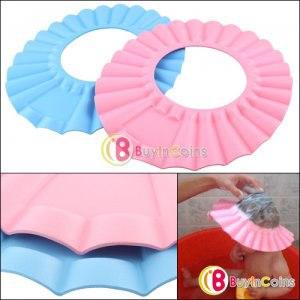 Шапочка для купания   Soft Baby Kids Children Shampoo Bath Shower Cap Hat от buyincoins.com фото