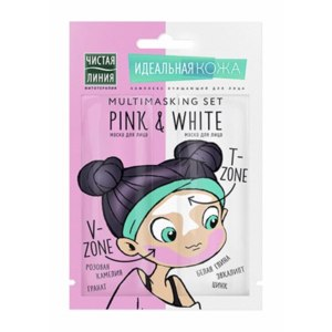 Маска для лица Чистая линия Идеальная кожа «Розовая камелия и белая глина» фото