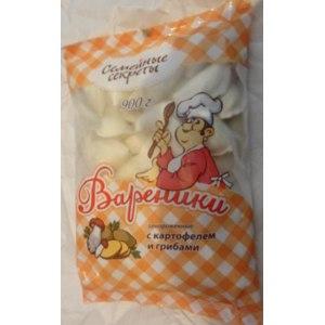 Вареники Семейные секреты Замороженные с картофелем и грибами, 900 г фото