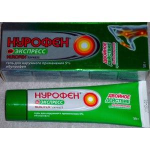 Обезболивающее средство Нурофен экспресс, гель для наружного применения 5%, ибупрофен, двойного действия обезболивающее, противовоспалительное фото