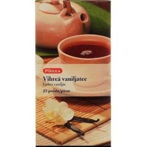 Чай зеленый  Pirkka Ванильный фото