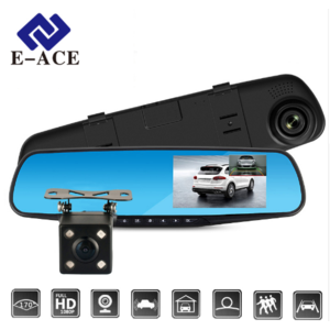 Видеорегистратор Aliexpress E-ACE Full HD 1080P Car Dvr Camera Auto 4.3 Inch Rearview Mirror Digital Video Recorder Dual Lens Registratory Camcorder фото