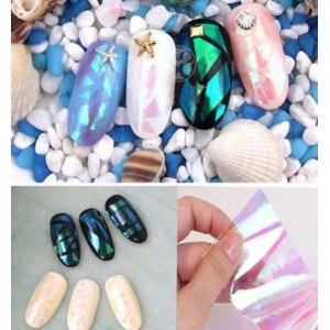 Фольга для дизайна ногтей Aliexpress - Fashion Newest Broken Glass Finger Nails Art Stencil Decal Nail Art stickers Manicure Tools  фото