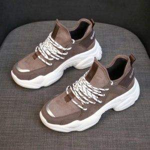 Кроссовки Aliexpress AliExpress Sneakers New 2019 Women Shoes Size 35-40 Fashion Mesh Leather Flat Casual Hot!!!Femme фото