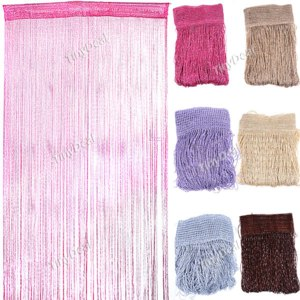 1M Width 2M Length Romantic Solid Color Fringe Door Curtain Drape String HHI-192654 фото