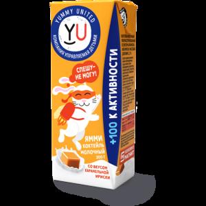 Молочный коктейль Yummy United Карамельная ириска фото