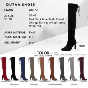 Ботфорты Aliexpress QUTAA <b>women's</b> high skinny <b>boots</b>, black ...