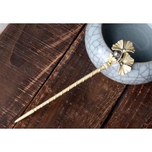 Шпилька для волос Aliexpress Women Ginkgo Leaves Hair Sticks Hairpins Simulated Pearl Leaves Jewelry Charm Hair Ornaments Girl Gifts Wedding Accessories фото
