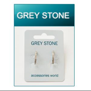 Серьги Grey Stone  фото