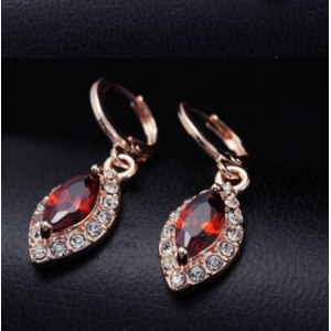 Серьги Aliexpress Dropship Free shipping18K Rose Gold Filled Fashion Design fair maiden Cubic zirconia Lady Women Earrings Dangler Jewelry CZ0356 фото