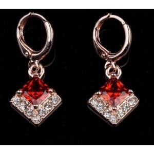 Серьги Aliexpress 2014Mixed Order Free shipping 18K Rose Gold Filled Dangler Cubic zirconia fashion sweet Lady Women for earrings Jewelry CZ0435 фото
