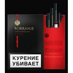 Сигареты Sobranie Black фото