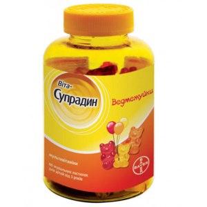 Витамины для детей Bayer Вита-Супрадин Ведмежуйки фото