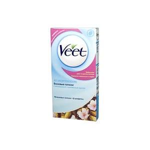Восковые полоски Veet C витамином Е и миндальным маслом для чувствительной кожи фото