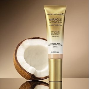Тональная основа Max Factor Miracle Second Skin Hybrid Foundation Hydrate Protect Renew SPF 20 фото
