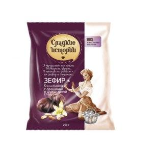 Зефир в шоколаде Рот Фронт Сладкие истории ванильный с орешками фото