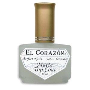 Лак для ногтей - матовое покрытие EL CORAZON Matte Top Coat фото