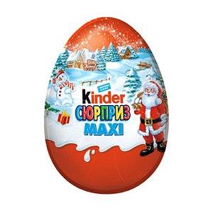 Шоколадное яйцо с сюрпризом FERRERO Киндер Сюрприз MAXI фото