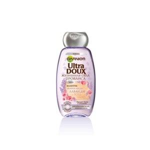 Шампунь Garnier Ultra Doux жизненная сила Прованса с эфирными  маслами лаванды и розы грасса (для нормальных волос лишенных блеска) фото