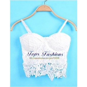 Топ AliExpress Women Top Brand Tank 2015 New Summer Desigual Feminines Hot Sale Sexy White Spaghetti Strap Vest Floral Crochet Lace Camisole фото