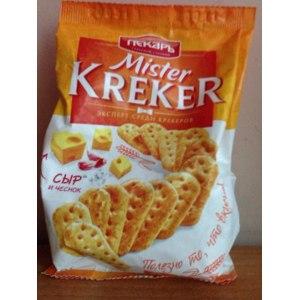"Крекер Пекарь Mister Kreker ""сыр и чеснок"" фото"
