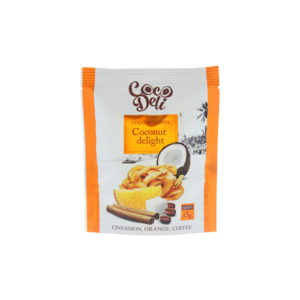 Кокосовые чипсы Coco Deli со вкусом кофе, корицы, апельсина фото