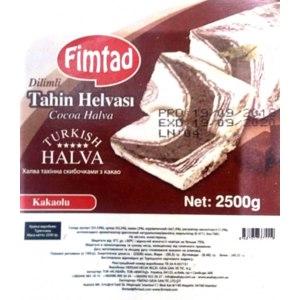 Халва Fimtad тахинная с какао фото
