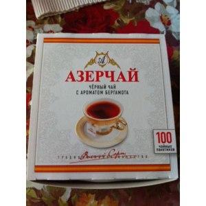 Чай в пакетиках Азерчай Черный чай с ароматом бергамота фото