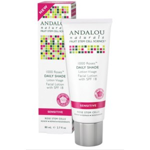 Лосьон для лица Andalou naturals Daily Shade, Facial Lotion with SPF 18, 1000 Roses, Sensitive фото