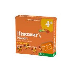 Витаминно-минеральный комплекс KRKA Пиковит Д 4+ фото