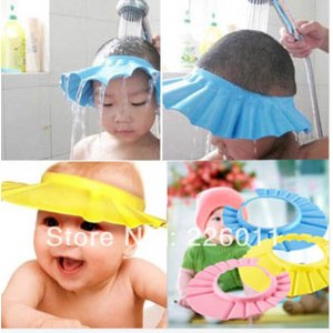 Козырек для купания Aliexpress Baby Shower wash hair Shield Hat cap Protects your baby or toddler's eyes Hot! фото