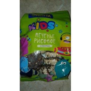 Печенье Лента Kids рисовое декорированное кондитерской глазурью фото