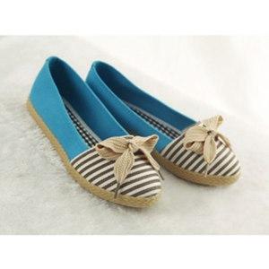 Балетки Ebay 2013 new products tide leisure sweet stripe bowknot women's FLATS shoes фото
