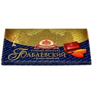 Шоколад Бабаевский Темный с целым миндалем фото